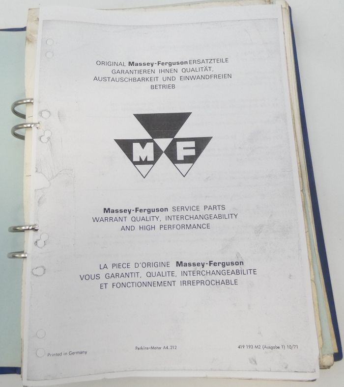 Massey-Ferguson 500-series workshop service manual