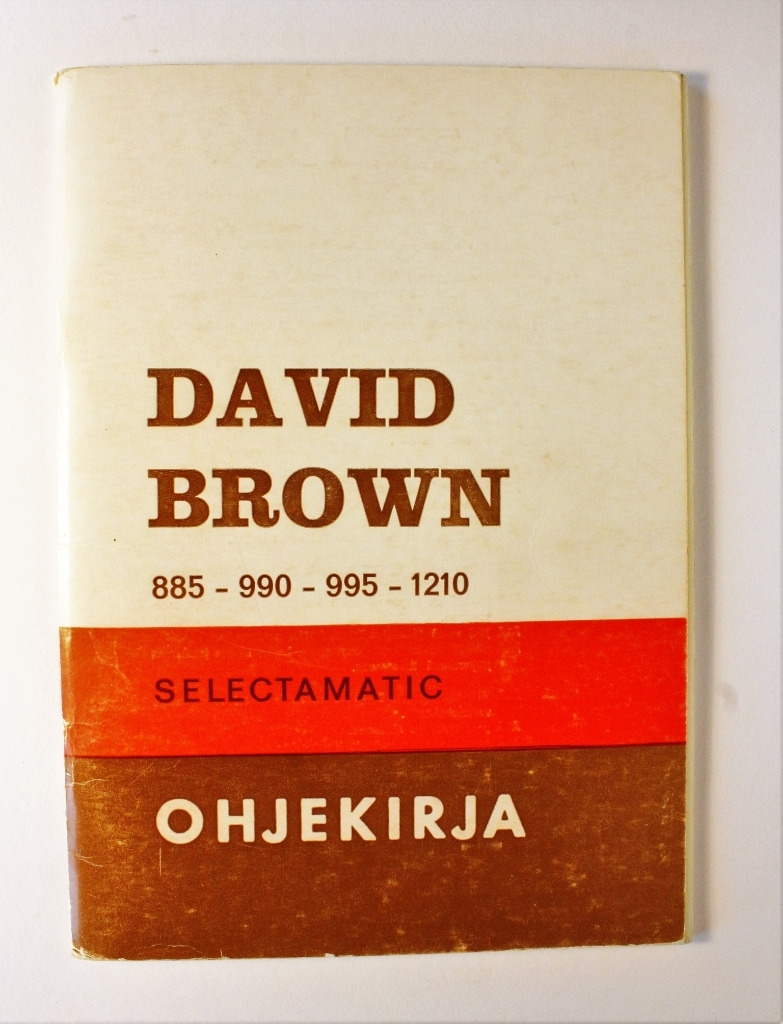 David Brown 885, 990, 995, 1210 Selectamatic Ohjekirja