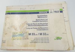 Deutz-Fahr M33.30/M33.60 Combine harvesters spare parts list