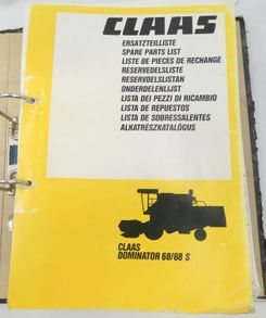 Claas Dominator 68/68S spare parts list