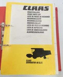 Claas Dominator 88 SL/S spare parts list
