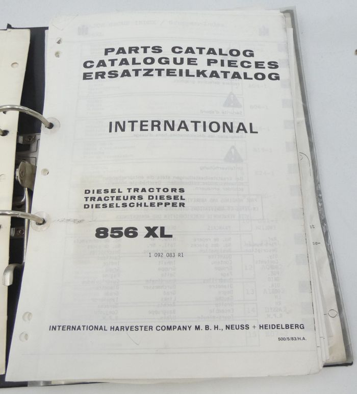 International 856XL diesel tractors parts catalog