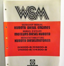 Kubota D3000-B, D3200-B, V4000-B, V4300-B Workshop Manual