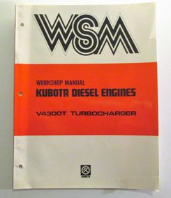 Kubota V4300-T Workshop Manual