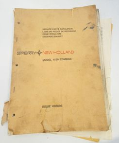 New Holland Model 1520 combine harvester service parts catalogue