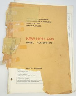New Holland Model Clayson 1540 service parts catalogue