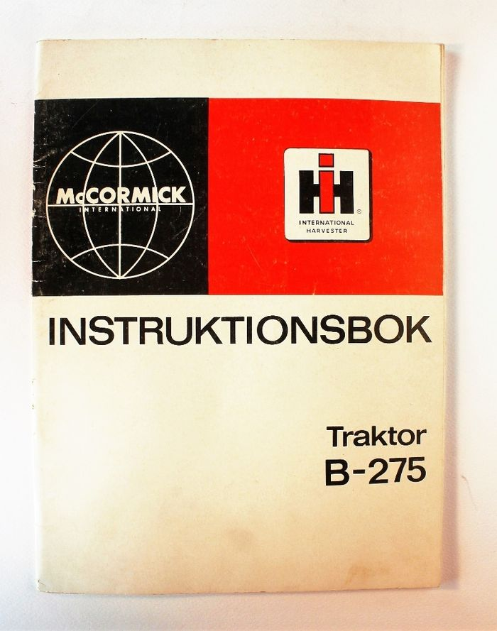International B-275 Instruktionsbok