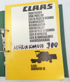 Claas Dominator 68 spare parts catalogue