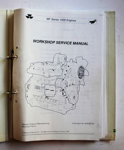 MF 1000-sarjan moottorit Workshop Service Manual