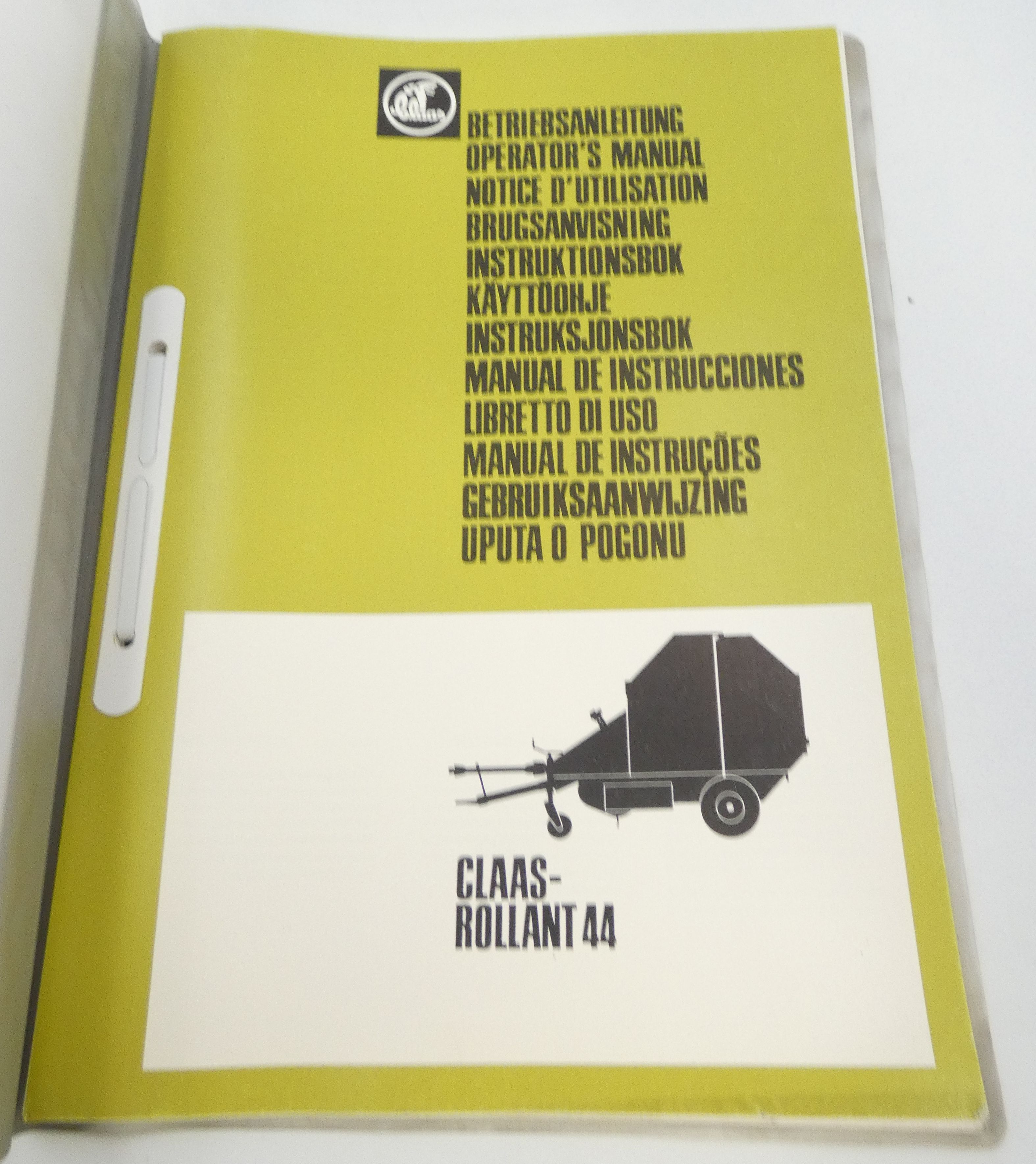 Claas Rollant 44 spare parts list