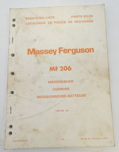 Massey Ferguson MF206 combine parts book