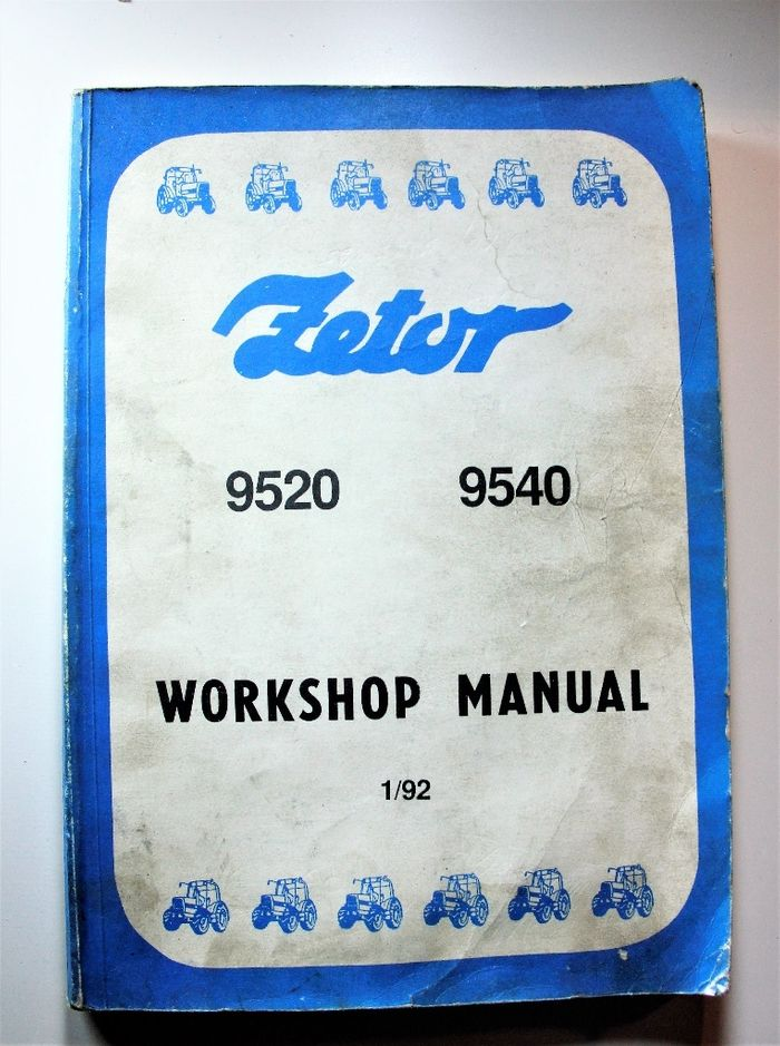 Zetor 9520 9540 Workshop Manual