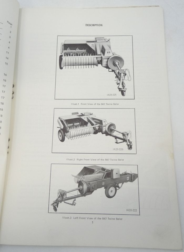 International B-47 baler operators manual