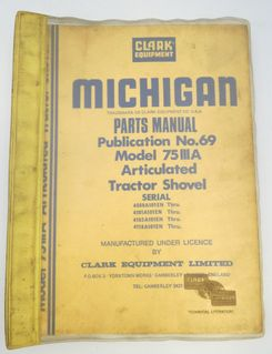 Michigan 75 III A parts manual