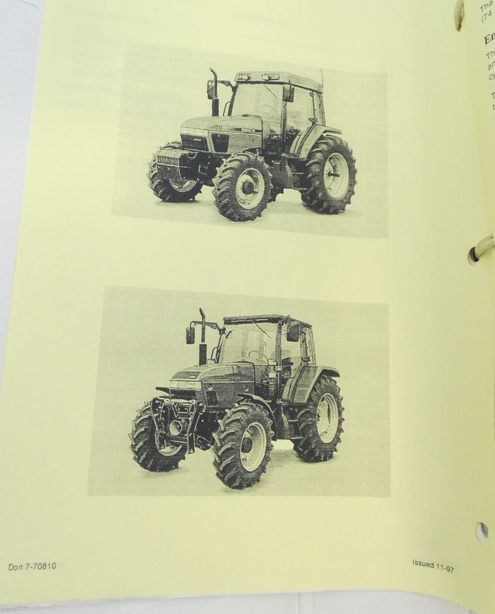 CaseIH CX50, CX60, CX70, CX80, CX90 and CX100 series tractors service manual