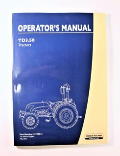 New Holland TD3.50 Operators manual