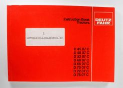 Deutz-Fahr D 45 07 C - D 78 07 C Instruction Book