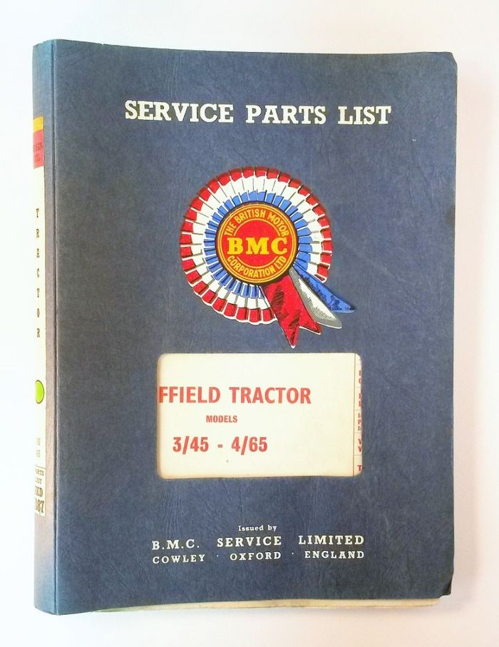 Nuffield 3/45 4/65 Mechanical Service Parts List