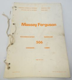 Massey Ferguson 506 combine parts book