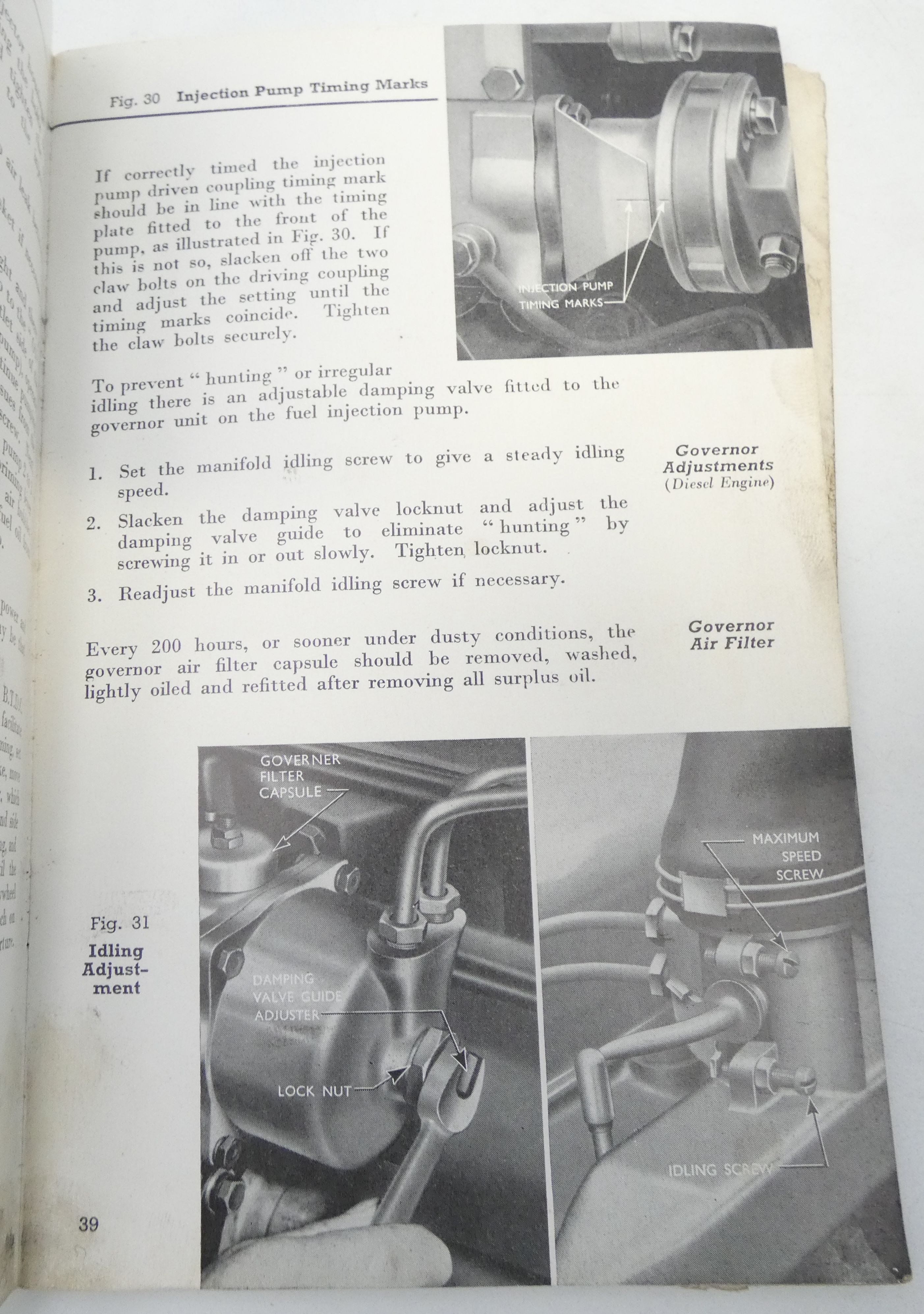 Fordson instruction book for Power Major