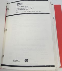 Case four-cylinder diesel engine (AD4/43, AD4/55) service repair manual