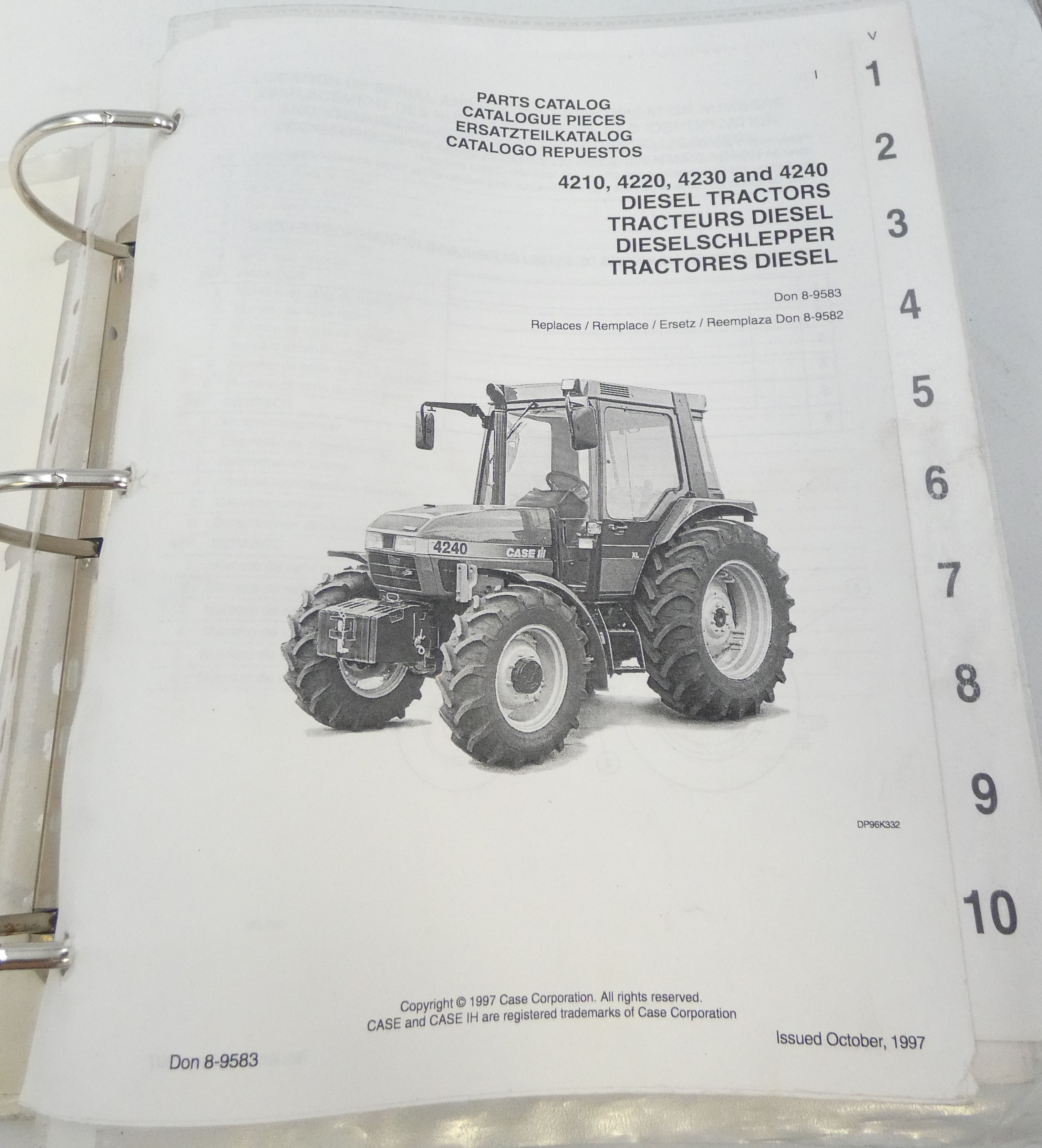 CaseIH 4210, 4220, 4230 and 4240 diesel tractors parts catalog