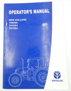 New Holland TN605A, TN705A and TN755A operator's manual