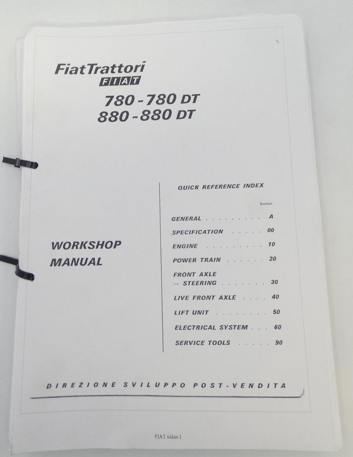 Fiat 780-780dt, 880-880dt workshop manual
