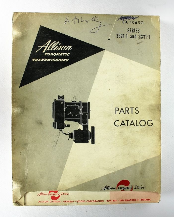 Allison Torqmatic Transmissions Parts Catalog