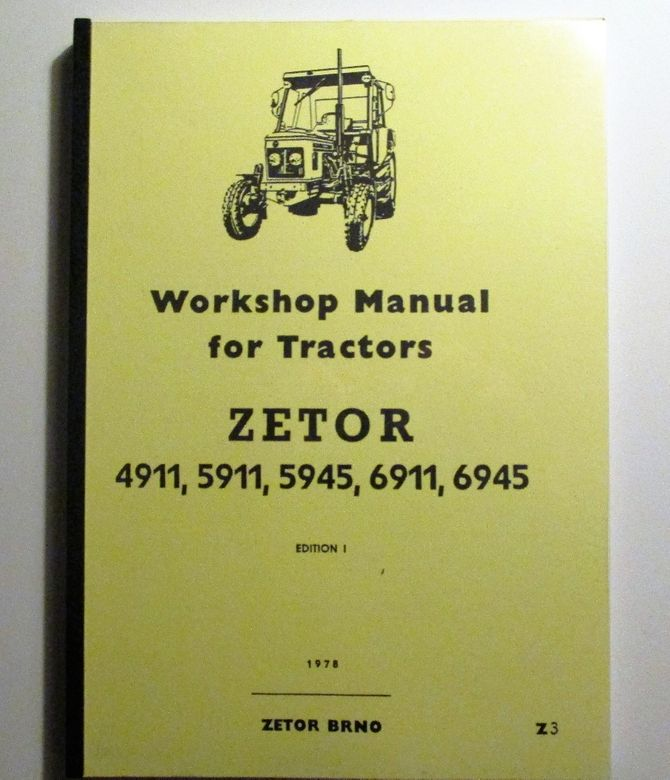 Zetor 4911, 4945, 5945, 6911, 6945 Workshop Manual - Korjausopas
