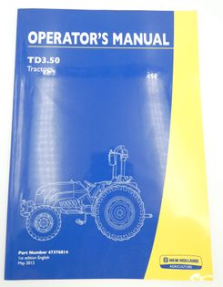 New Holland TD3.50 operator's manual