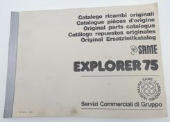 Same Explorer 75 original parts catalogue