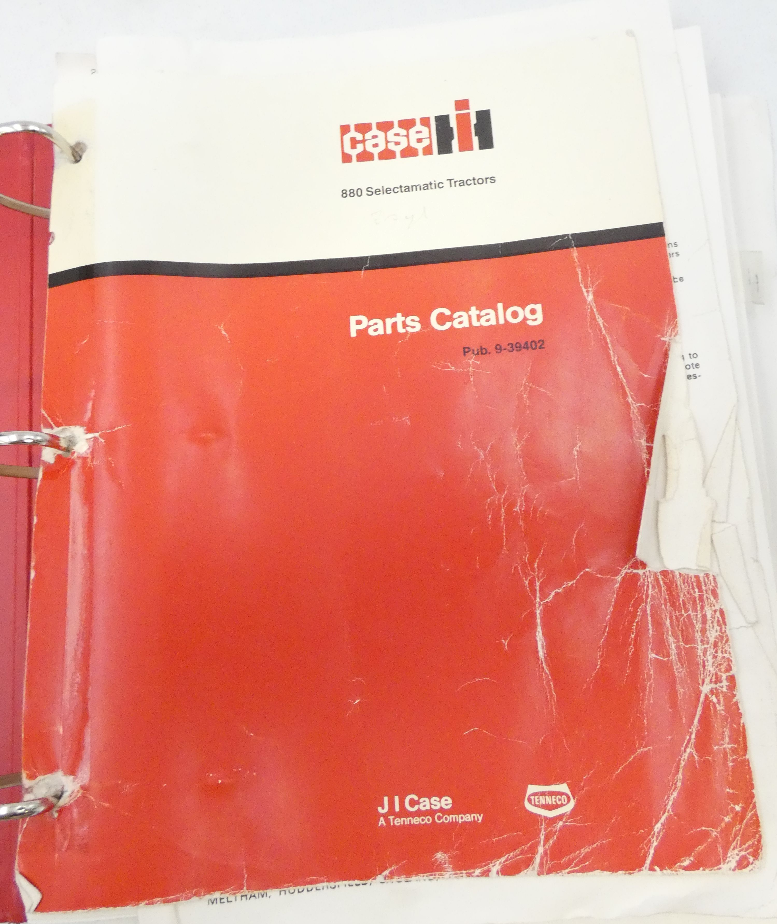 CaseIH 880 Selectamatic tractors parts catalog + David Brown 880 implematic and 880 implematic livedrive parts catalog + Case QD90 loader parts catalog