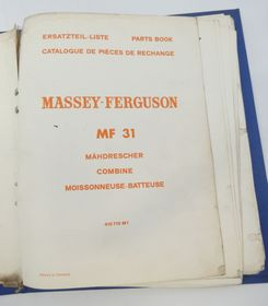 Massey-Ferguson MF31 combine parts book