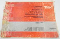 Deutz-Fahr M660/770 combine harvesters spare parts list