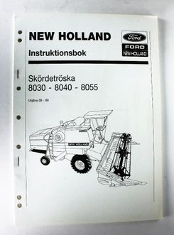 New Holland 8030, 8040, 8055 Instruktionsbok