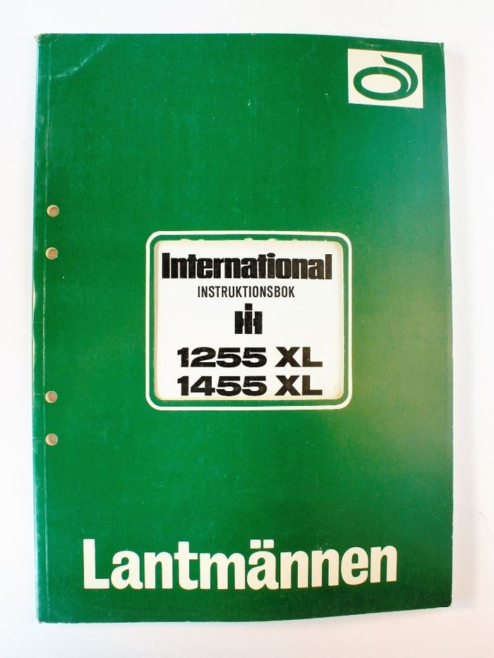 International 1255XL, 1455XL Instruktionsbok