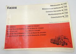 Fahr M750 combine harvester spare parts list