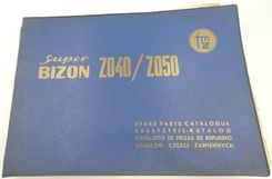 Super Bizon 2040, 2050 grain combine harvesters spare parts catalogue