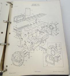 Massey Ferguson 520/525 combine parts book