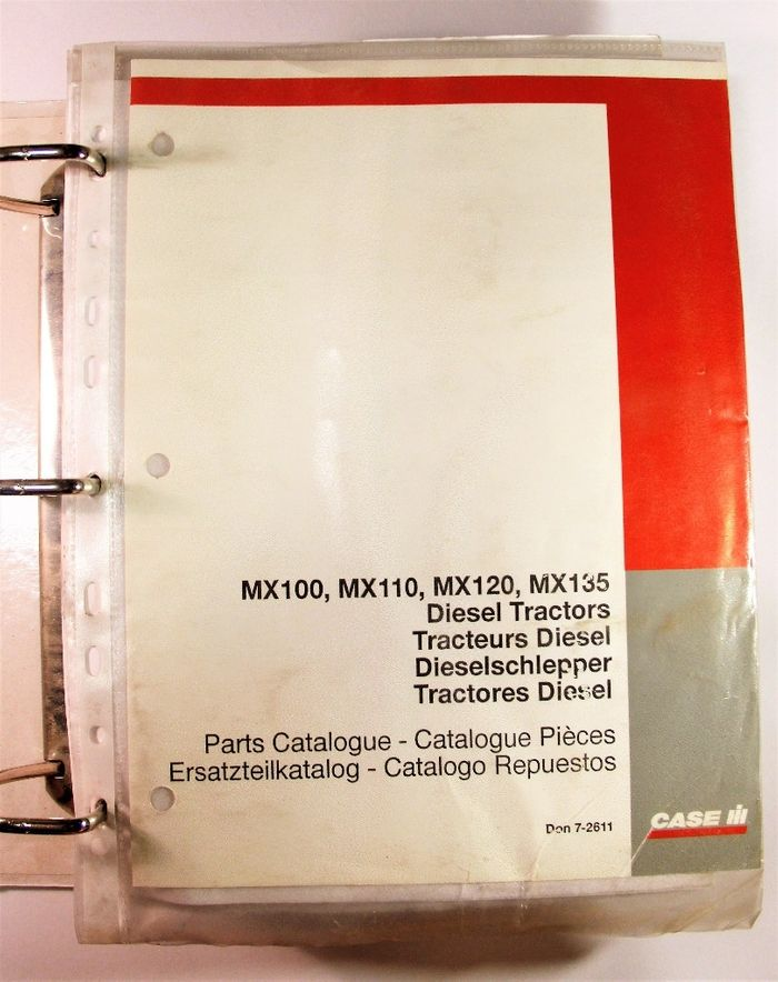 Case MX100 MX110 MX120 MX135 Parts Catalogue
