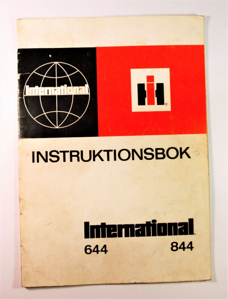 International 644 844 Instruktionsbok