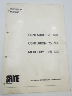 Same Centaurio 70, Centurion 75 and Mercury 85 Special export workshop manual