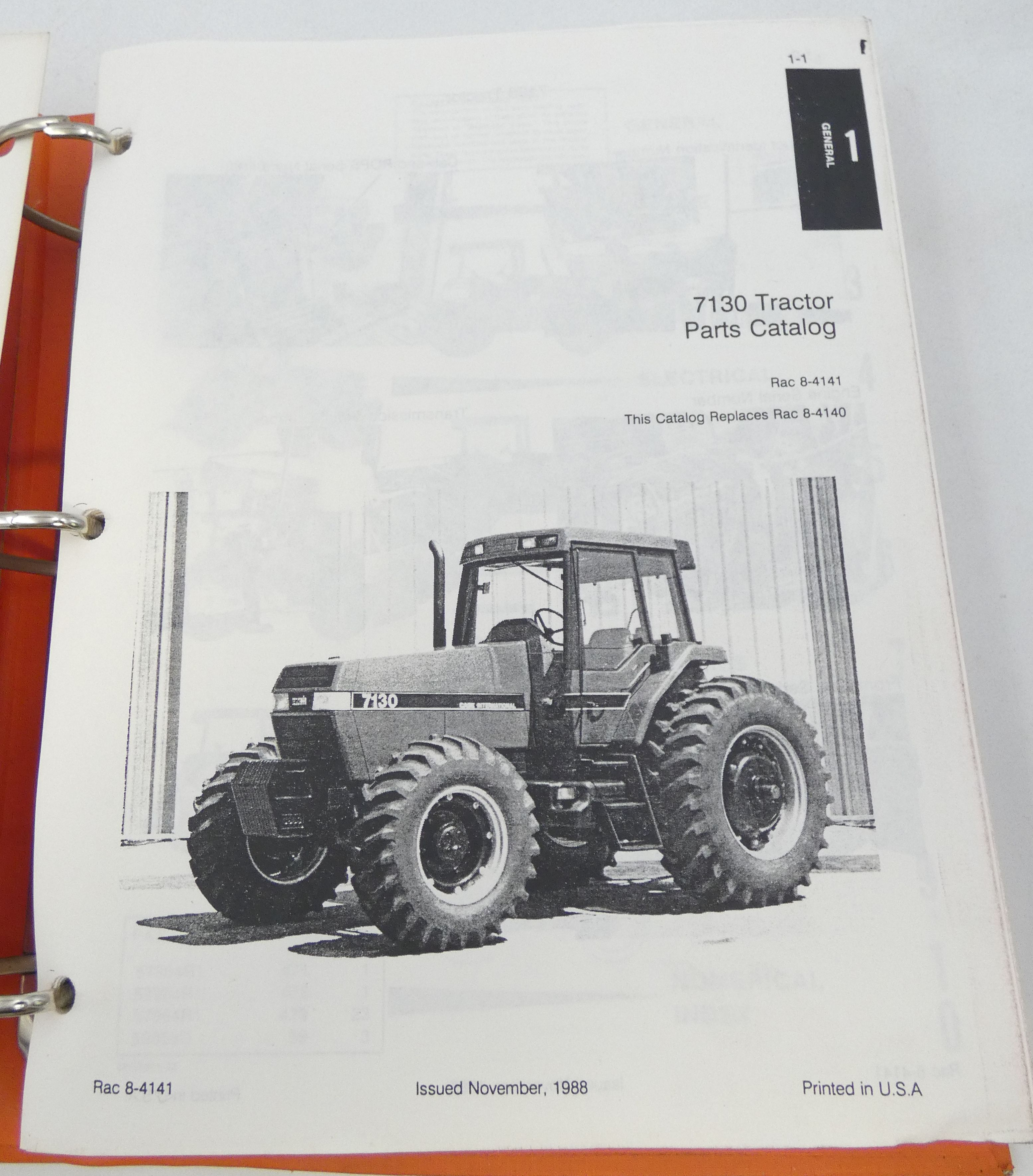 Case International 7130 tractor parts catalog