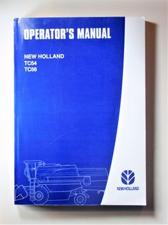 New Holland TC54 TC56 Operators manual
